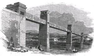 La sección de caja original del Puente Britannia, circa 1852.