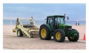 Máquina de limpieza de la arena de las playas