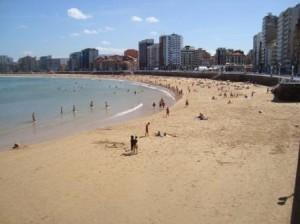Playa de San Lorenzo. Gijón, Asturias.