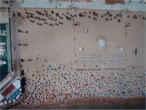 Vista aérea de la playa de Gandía (Valencia)