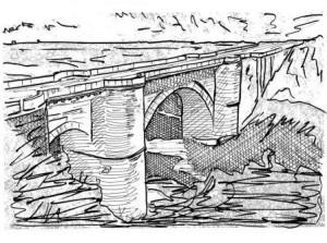 Puente Benameji (Dibujo Víctor Yepes)