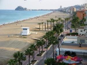 Playa norte de Peñíscola (Castellón). Fotografía de Víctor Yepes, 2006.