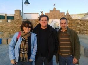 Ana Mª Macías, Carlos Pereira y Eduard Ariza
