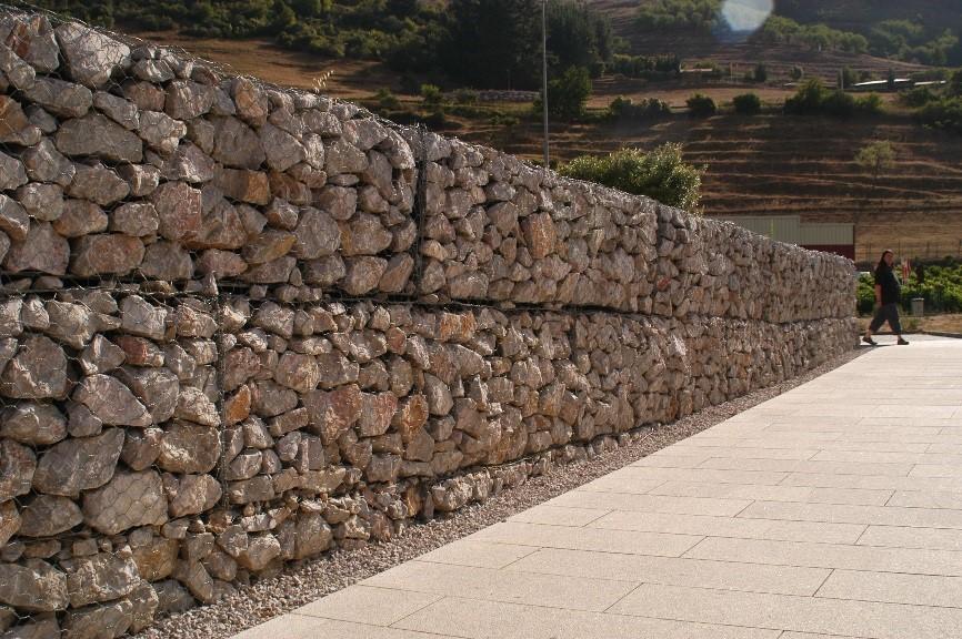 Muros de gaviones el blog de v ctor yepes for Gaviones de piedra