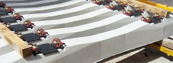 Traviesas de hormigón prefabricado. Fuente: http://www.prefabricadosdelta.com/