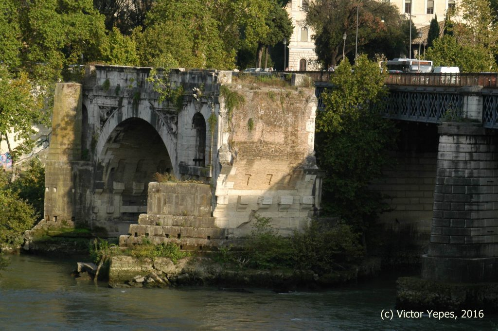 El Puente Emilio (Pons Aemilius) o Ponte Rotto. Imagen: V. Yepes